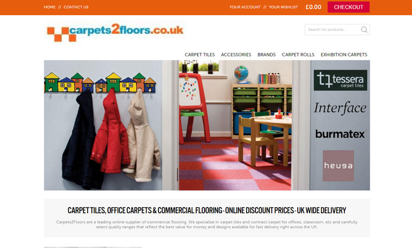 New site launches for carpets2floors