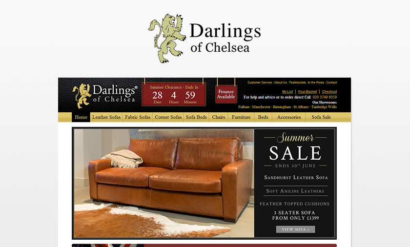 New site launched for Darlings of Chelsea