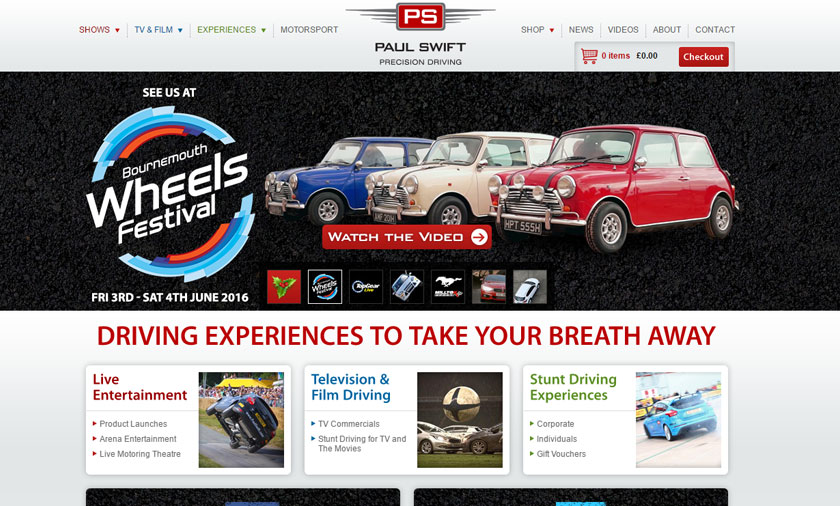 Paul Swift Precision Driving site launched