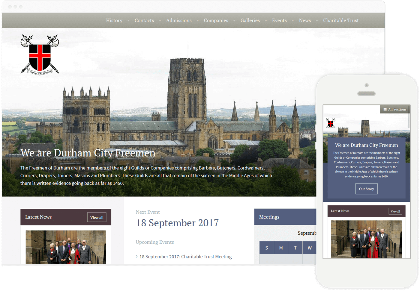 Information Portal Website Durham City Freemen Edward Robertson
