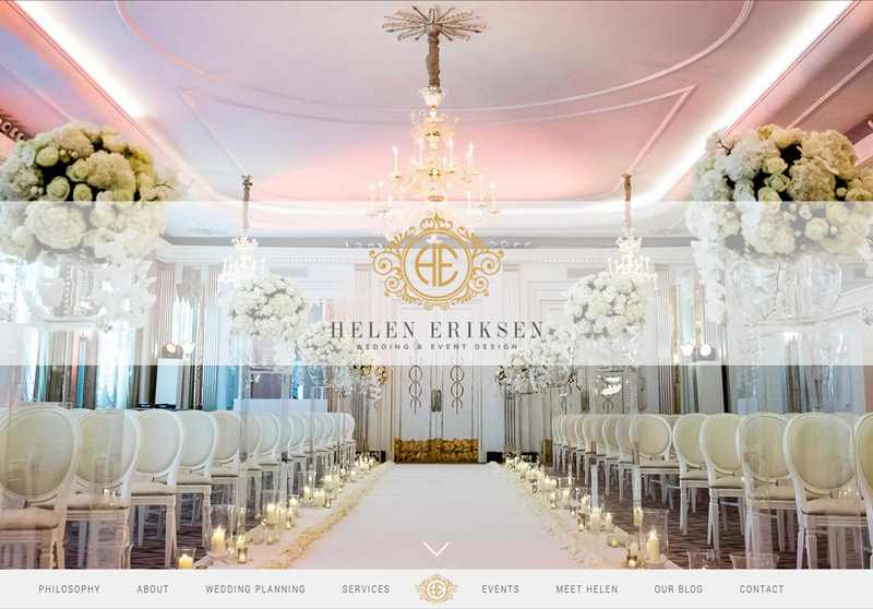 Wedding Planning Websites.Website For A Wedding Planner Helen Eriksen Weddings